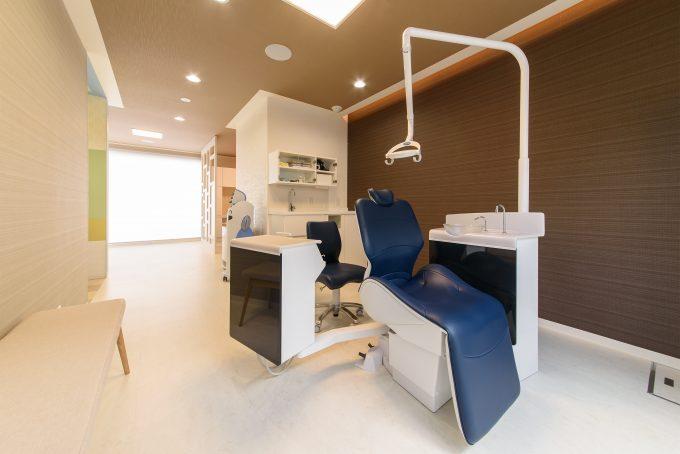 歯科医院の内装デザイン。