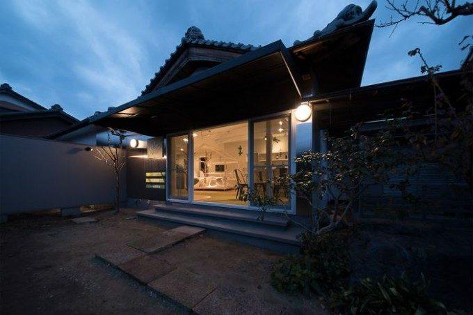 コミュニティーサロン兼自宅の外観デザイン。