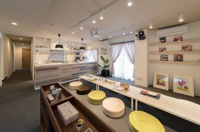 シェアハウスの内装デザイン。 ポップ感のあるインダストリアルな雰囲気を取り込んだデザインで、大人になったばかりの若者がコアターゲットのリノベーション物件です。